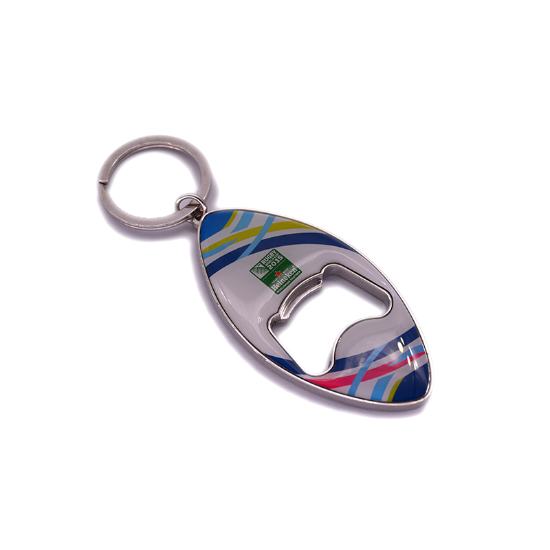 Hot aluminum custom shaped keychains, metal bottle opener keychain for gifts
