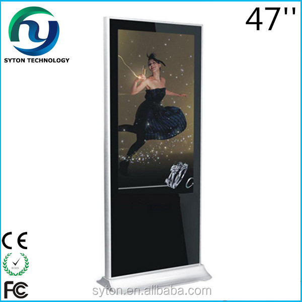Floor Stand 47'' Metal Housing LCD Digital Signage Picture Frame / LCD Media AD Player