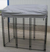 Galvanized Steel dog kennel Iron Fence dog kennel chain Link dog Kennel Panel