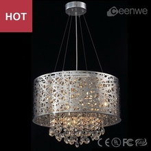 Modern pendant light chrome contemporary crystal on chandelier