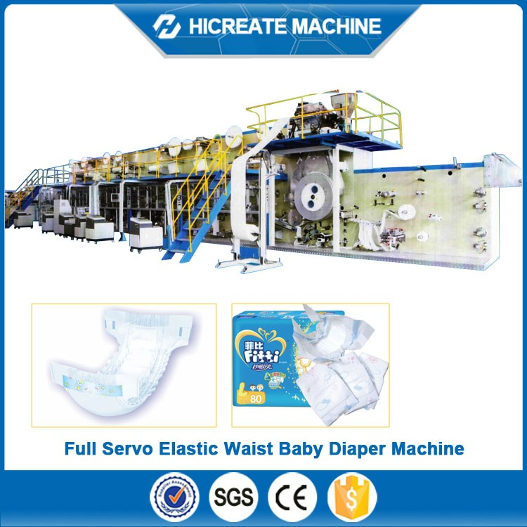 baby diaper production line with good performance made in China export to Canada Pakistan Malaysia etc.