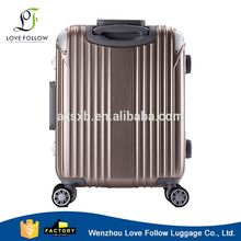 Latest arrival OEM design abs pc metal frame aluminum luggage