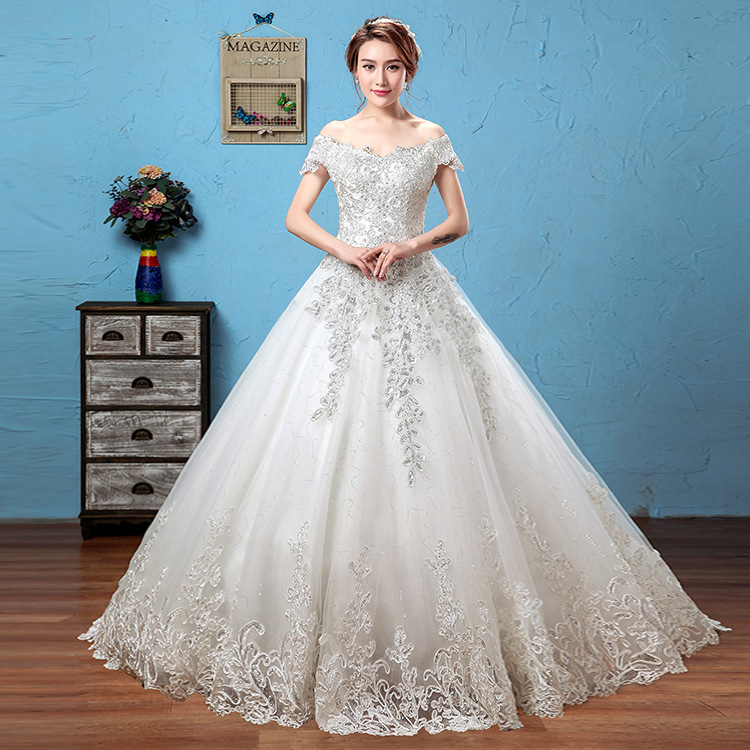 WTY05 Vestidos De Novias Elegant New Beading Sequined Strapless Satin A-Line Wedding Dress Bridal Gown Mother Of The Bride Dress
