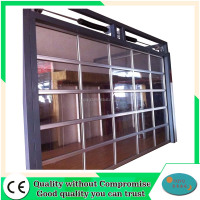Manufacturers automatic aluminum full view glass garage doors