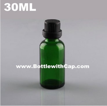 200*30ml glass bottle green essence oil domestic imitation imported white large cranium repackaging cosmetic