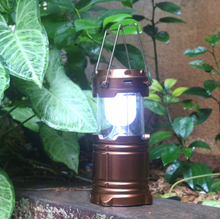 Led Rechargeable Solar Camping Light Lantern Use For Outdoor Activities With Solar&Mobile Phone Charger Function