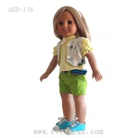 Customized make your own vinyl doll/new fashion 2013 lifelike 18 inch vinyl doll kits