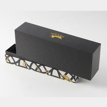 custom designer replica cap top black and white striped cardboard coffin gift box
