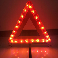 Emergency tools triangle led flashing car warning light