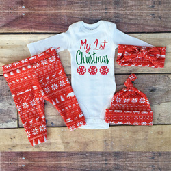 Factory price autumn winter little sister 4pcs Fashion baby clothes 0-3 years old kids