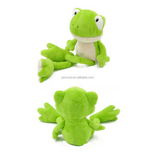Plush funny green frog stuffed soft jumbo feet baby gift OEM toy