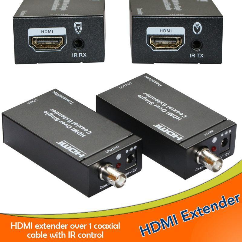 Super stability 1080P hdmi etender with ir remote HDMI Etender Over single 100m/328ft Coaial RJ45 Cables hdmi etender 100m