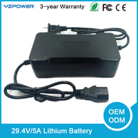 Rohs 29.4V 5A 24V Lithium Li-ion Battery Charger Power Tool Rechargeable Batteries
