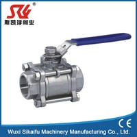 Quality first trunnion mounted ceramic 3 pc female ball valve
