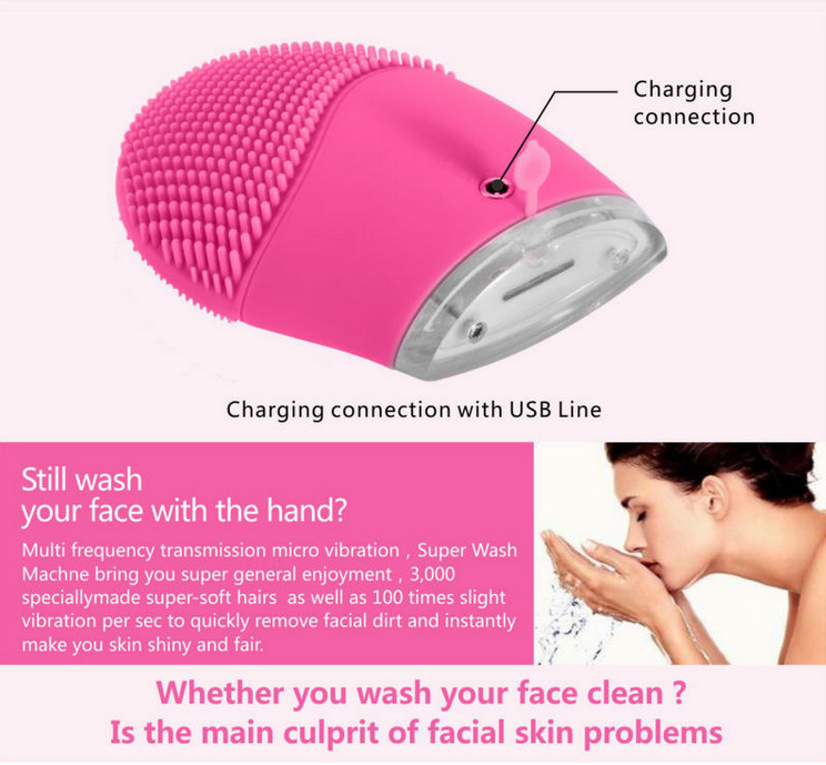 Hot Sale Beauty Equipment , Skin Sonic Facial Brush