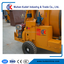 Electric 350L Concrete Mixer with wire hoisting tipping hopper