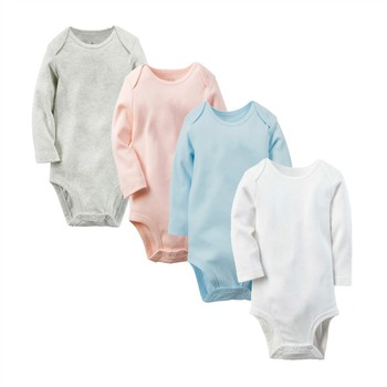 wholesale baby clothes long sleeve romper blank infant rompers