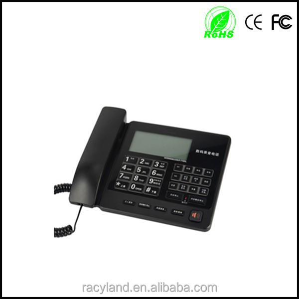 long time voice call recording telephone for business ,headset corded telephone