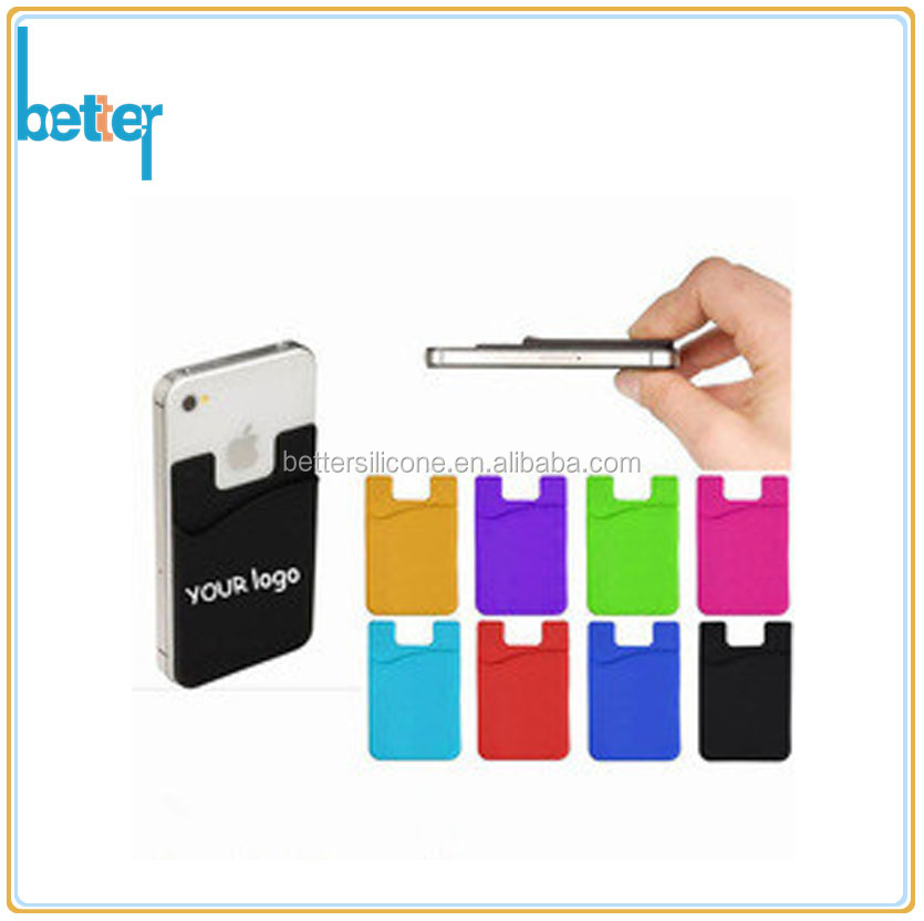 Promotional silicone credit card holder with 3M sticker