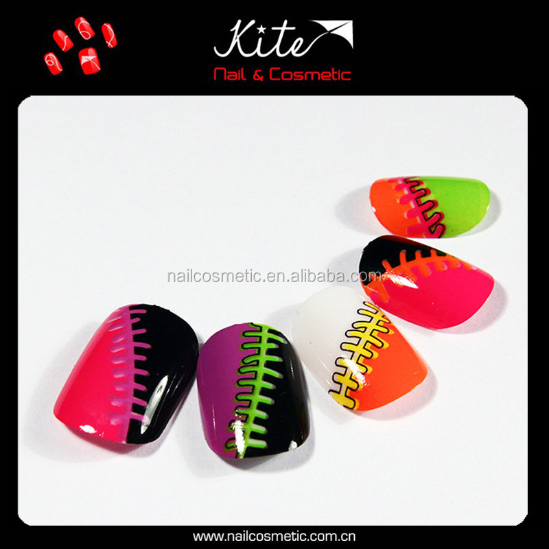 Unique Designed Acrylic Nails Artificial Fingernail Tips Wholesale Oval Free False Nails