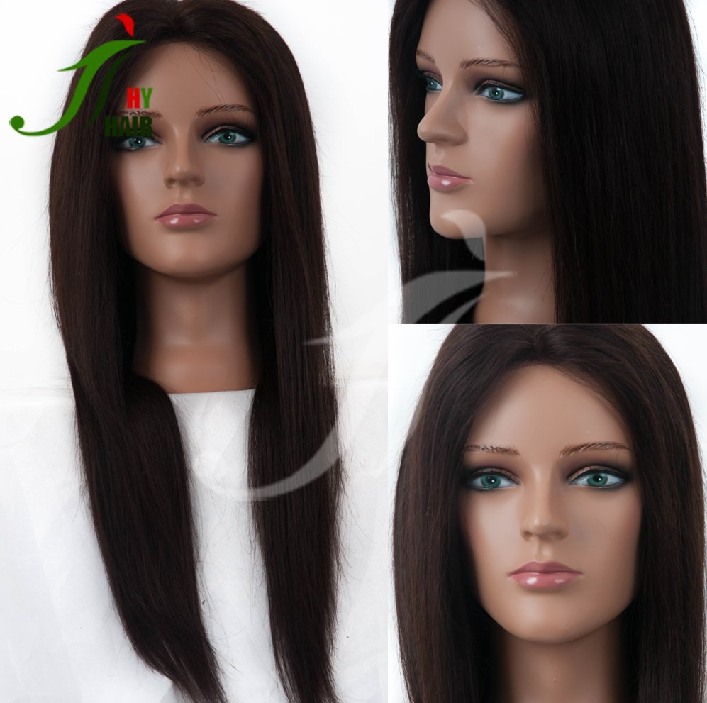 22Inch Long Hair Cheap Price From Factory 100% Human Hair Plastic PVC Mannequin Head for Eyelash Training