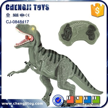 Electric RC animal model walking toys tyrannosaurus with light and sounds mini dinosaur for kids