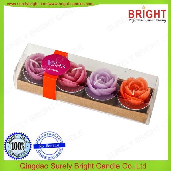 High Quality Flower Shape Tea Light Decorative Candles