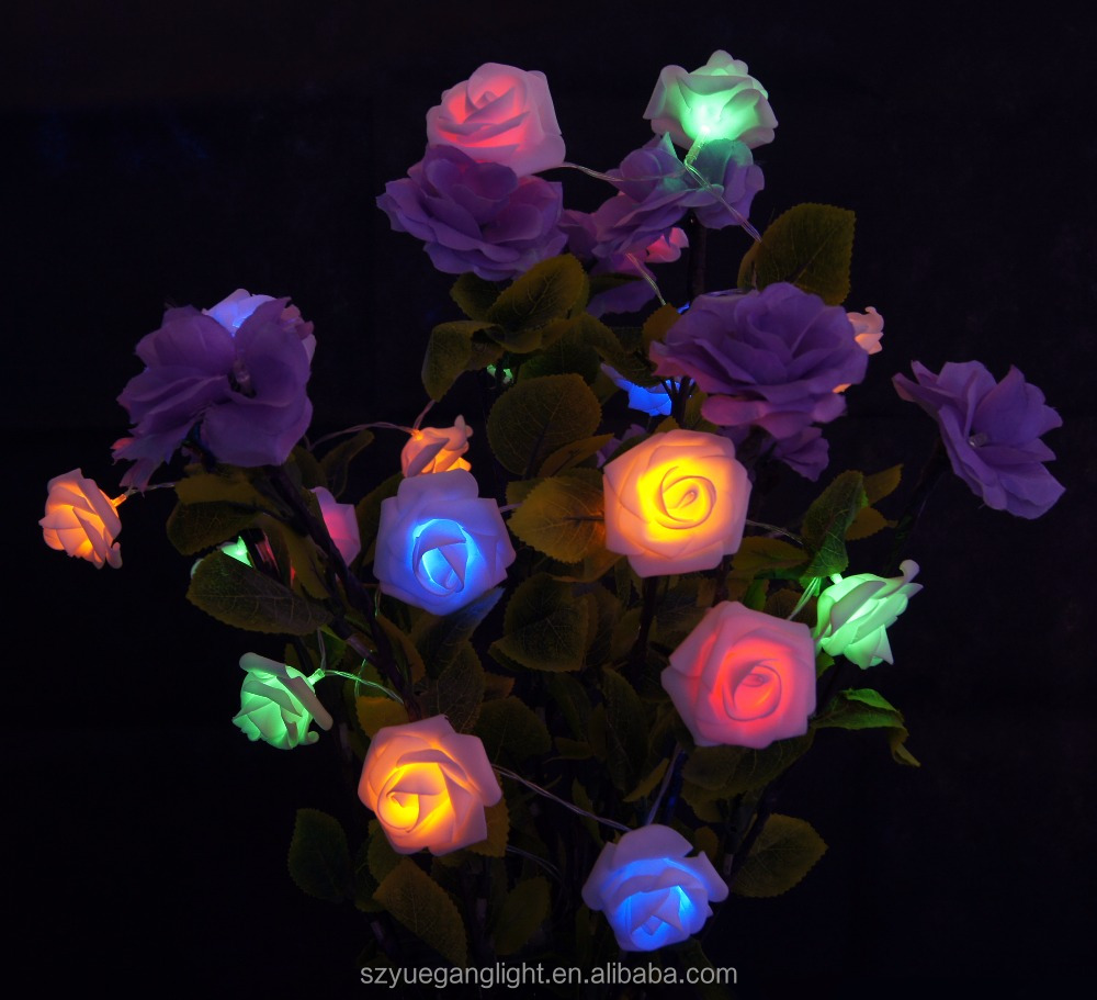 Rose pendant led light RGB holiday time lights Christmas tree decoration lighting
