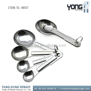 4 pcs stainless steel decorative tasting spoon/measuring spoon