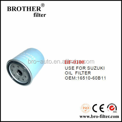 High quality OEM auto oil filter 1651060B11 for Suzuki car engine oil filter perkins