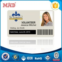 MDC0191 Free Samples! Customized High Quality Size of Potrait Staff ID Card - Barcode Card