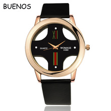 Creative Unisex Hollow Cross Leather Strap Wrist Watch