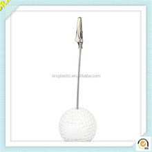 Wholesale clear ball shape photo memo holder plastic memo clip/OEM clear plastic memo clip holder factory
