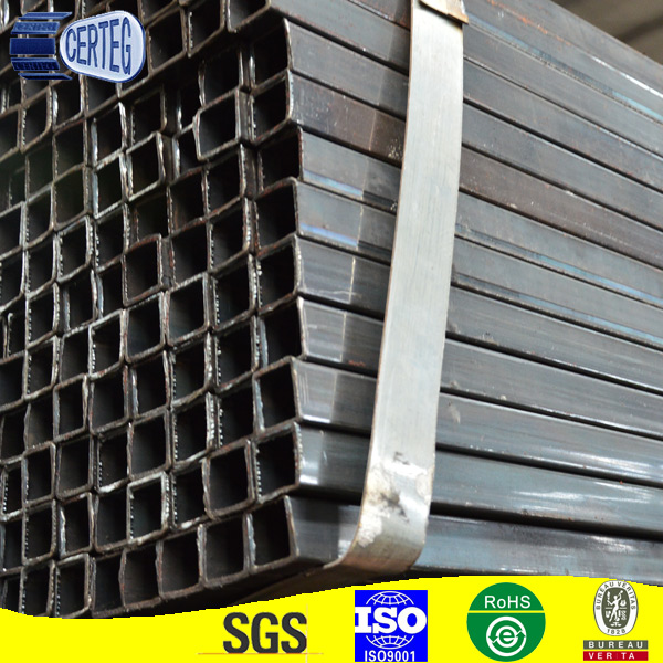 Tianjin square rectangular pipe steel hollow rect section welded square tube ASTM hollow section black square tube