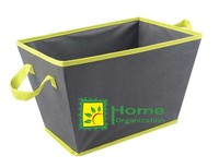 2015 hot nonwoven foldable storage tote with carry handle