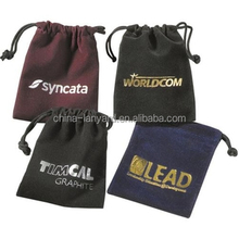 Customized Velvet Pouch/Logo Printed Velvet Jewelry Pouch