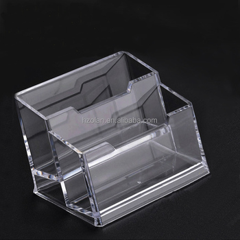 Acrylic Business Name Credit Card Holder