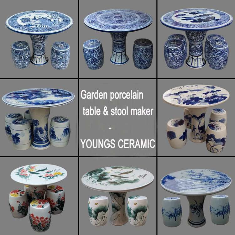 Retail And Wholesale Chinese Antique Ceramic Outdoor Furniture Sets For Bedroom