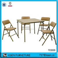 Fashional PVC dining table and chairs with metal legs for sale TC0009