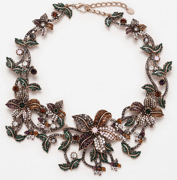 Mexico flower necklace jewelry bubble necklace statement necklace N5098