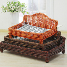 Fashion and high quality willow pet basket no cushion willow basket for large dog