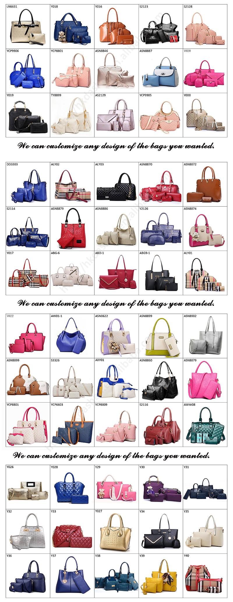 a8a9d32ef7a LYW069 Wholesale Set Handbag 6 pcs in One Women Bag Set Shoulder Bag Wallet  and Key