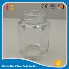 100ml hexagon honey glass jar
