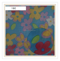 transparent fabric flower netting stretch print mesh fabric for fashion bag