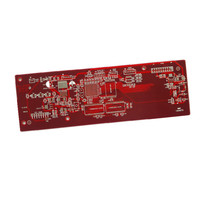 Blind via transmitter FM red pcb circuit board manufacturer