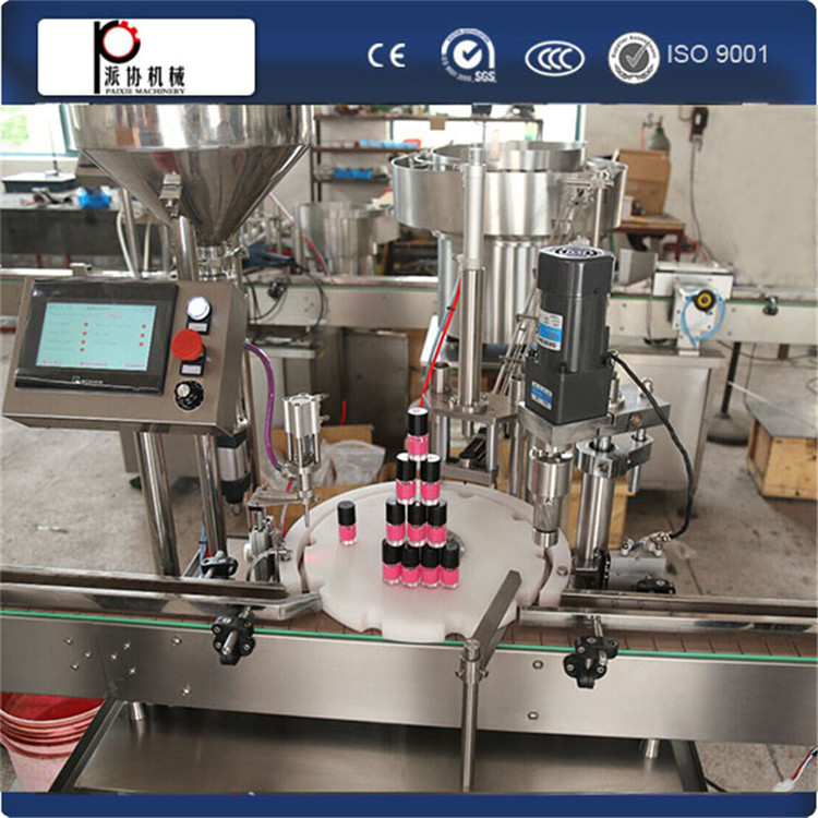 CE ISO GMP 100-1000ml Nail polish small bottle filling and capping machine nail polish packaging equipment