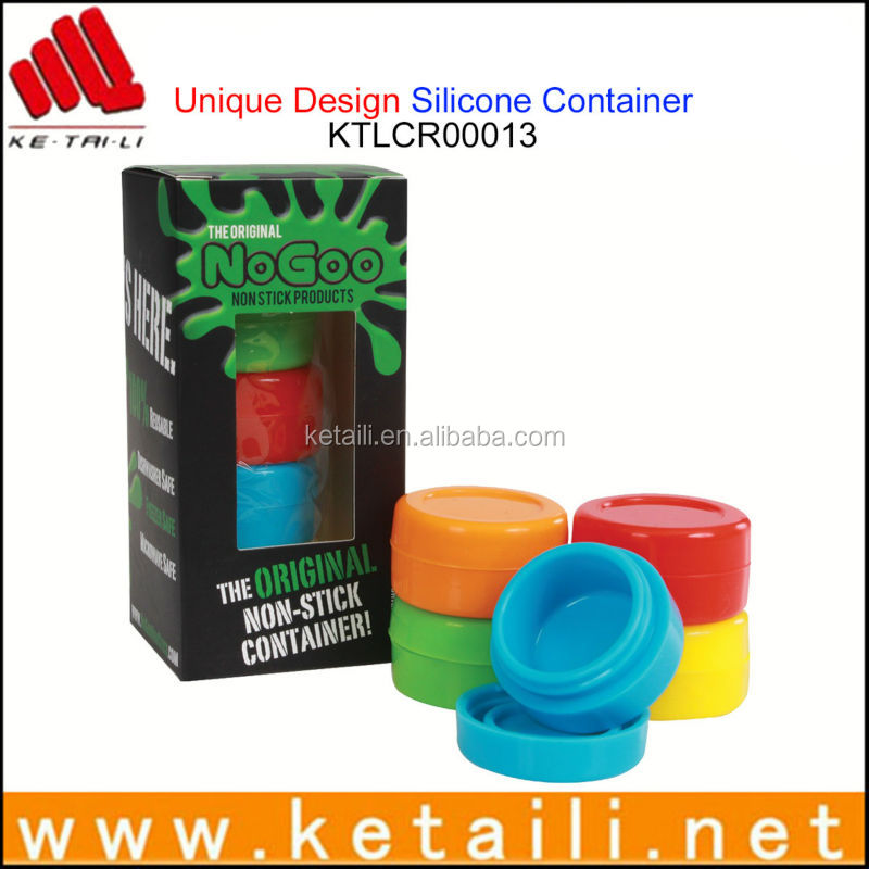 Custom Design Capacity Silicone Container For Wax / Oil