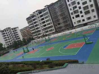 flooring High School synthetic basketball court covering prices