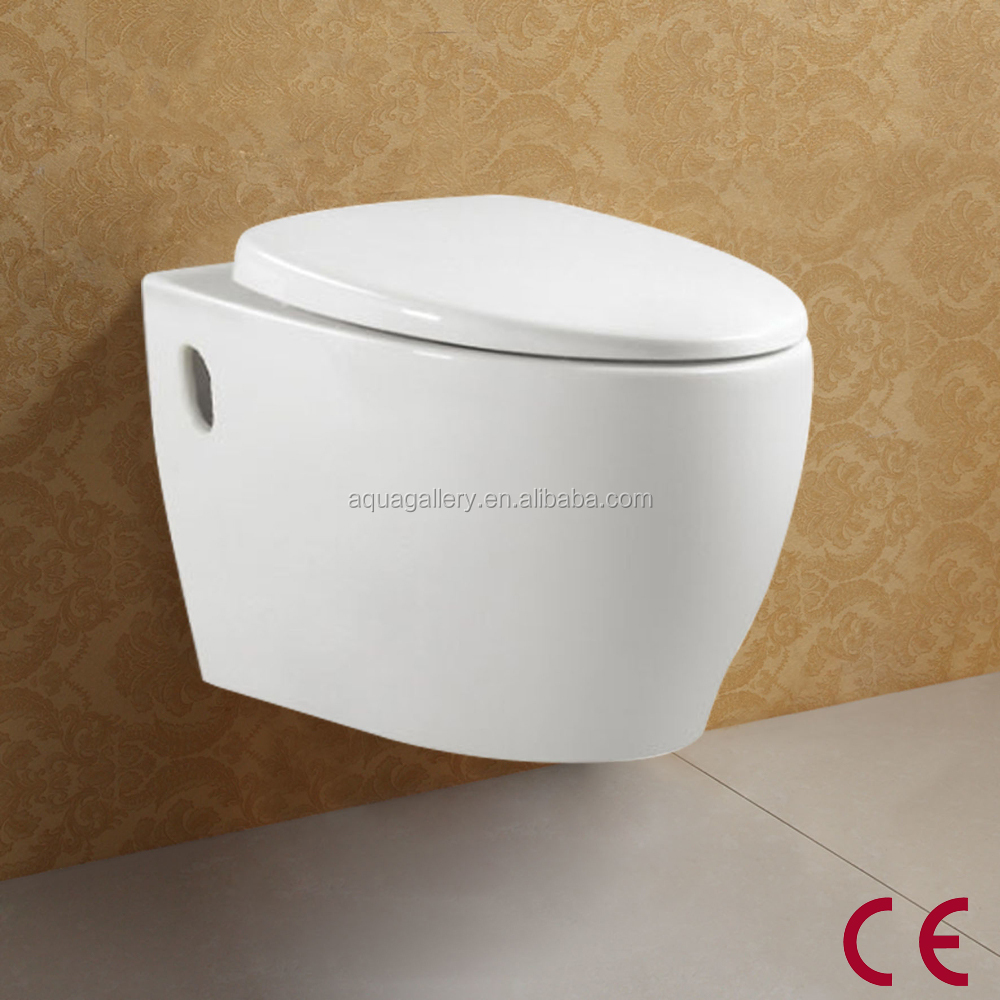 Round Ceramic P Trap CE Hanging Toilet