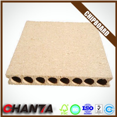 Experienced manufacturer hollow core particle board tubular chipboard for door core with customer logo